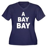 A Bay Bay Women's Plus Size V-Neck Dark T-Shirt