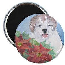 Xmas Puppy Magnet