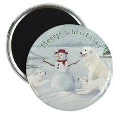 "Great Pyrenees Snow Fun 2.25"" Magnet (10 pack)"