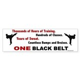 ONE Black Belt 1 Bumper Bumper Sticker