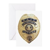 Bail Enforcement Officer Greeting Cards (Package o