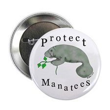 "Protect Manatees 2.25"" Button (100 pack)"