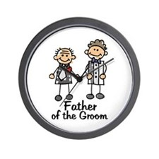 Cartoon Groom's Father Wall Clock