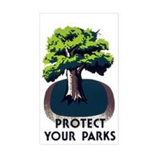 PROTECT YOUR PARK vinyl sticker