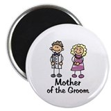 Cartoon Groom's Mother Magnet