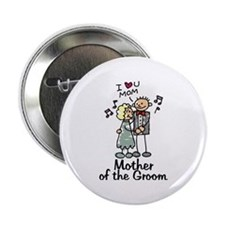 Cartoon Groom's Mother Button
