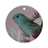 Blue Lineolated Parakeet Ornament