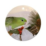 Dilute Green Lineolated Parakeet Ornament