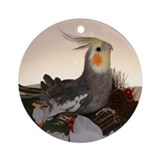 Normal Grey Cockatiel Ornament