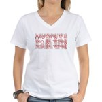 Murphy's Law Women's V-Neck T-Shirt