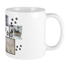 Wolf Collage Small Mugs