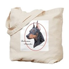 Doberman Pinscher Cameo Tote Bag