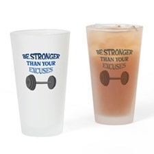 BE STRONGER Drinking Glass