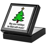 Musical Christmas Holiday Keepsake Box