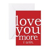 I love you more Greeting Cards (20 Pack)