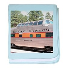 Railway carriage, Grand Canyon, Arizo baby blanket