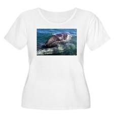 Gray Whale Baby Plus Size T-Shirt
