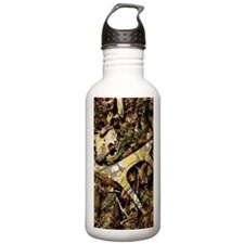 camouflage deer antler Water Bottle