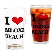 Cute Beach house Drinking Glass
