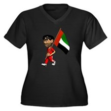 3D United Arab Emirates Flag Women's Plus Size V-N