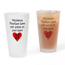 Miniature Pinschers Leave Paw Prints On Your Heart Drinking Glass