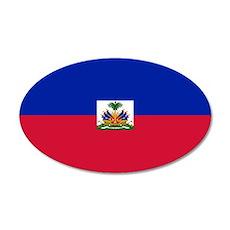 Haitian flag 20x12 Oval Wall Decal