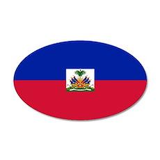 Haitian flag 35x21 Oval Wall Decal