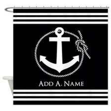 Black and White Nautical Rope and A Shower Curtain