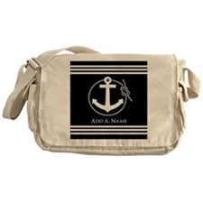 Black and White Nautical Rope and An Messenger Bag