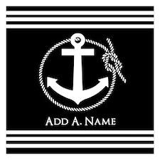 Black and White Nautical Ro Invitations
