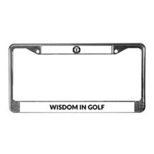 Wisdom in Golf Logo License Plate Frame