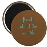 """It's all about the moozik"" Magnet (brown/blue)"