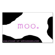 """Moo"" Rectangle Decal"