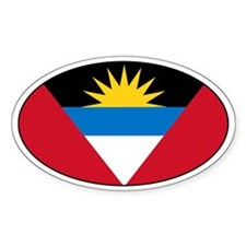Antiguan flag Oval Decal