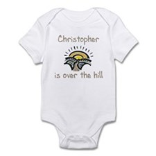 Christopher is over the hill Infant Bodysuit