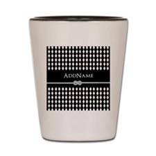 Black and White Argyle and Rope Persona Shot Glass