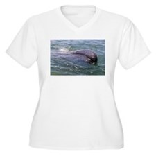 Baby Gray Whale 3 Plus Size T-Shirt
