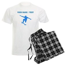 Custom Blue Skateboarder Pajamas