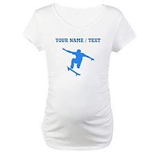 Custom Blue Skateboarder Shirt