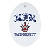 RAGUSA University Oval Ornament