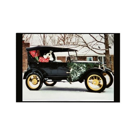Vintage Car Rectangle Magnet (100 pack)
