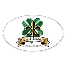 McGuinness Oval Bumper Stickers
