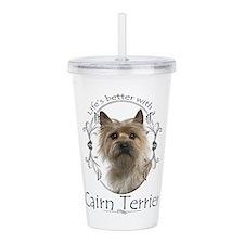 Cairn Terrier Acrylic Double-wall Tumbler