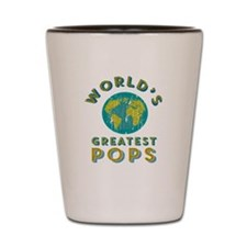 World's Greatest Pops Shot Glass