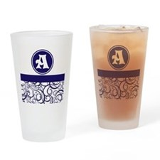 Purple Personalized Monogram Initial Drinking Glas
