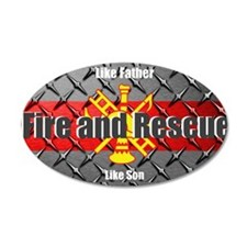 Firefighter like father like son Wall Decal