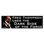 Fred Thompson Dark Side of the Force bumper sticke