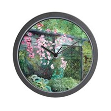 """Stacey's Garden"" Wall Clock"