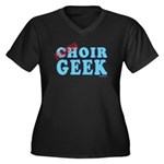 Choir Geek Women's Plus Size V-Neck Dark T-Shirt