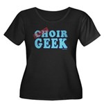 Choir Geek Women's Plus Size Scoop Neck Dark T-Shi